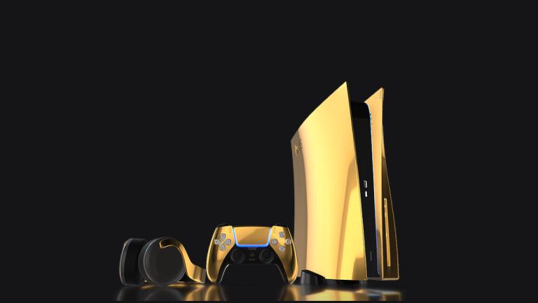 Konsola PS5 w wersji limitowanej (złota)